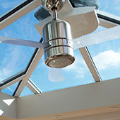 Ceiling Fan in a conservatory