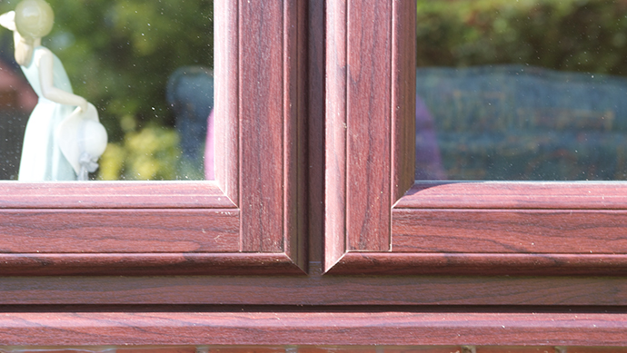 Beaumont window with mechanical timber like joints
