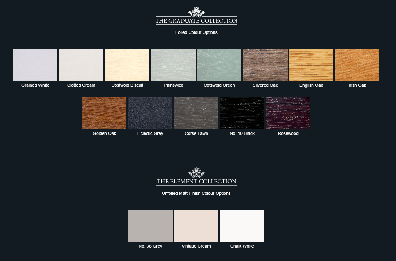 Residence 7 Window Colour Options