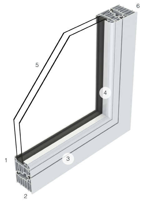 Residence 7 flush casement window