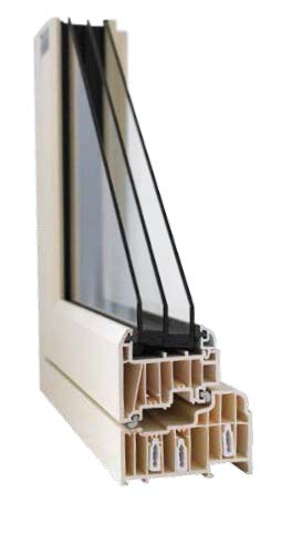 Triple glazed Residence 9 window cross section