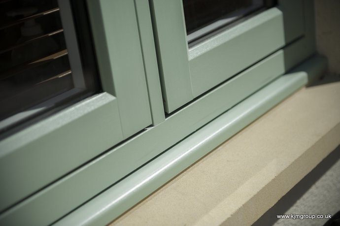Residence 9 window in green
