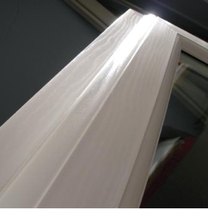 White Foil PVC windows