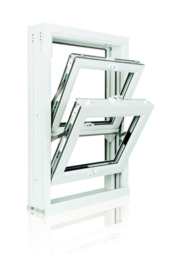 Sliding sash window tilts inwards for easy cleaning