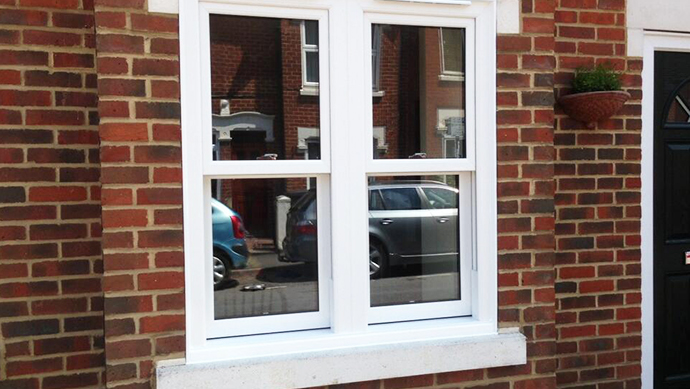 sliding sash window installed in whitchurch hampshire
