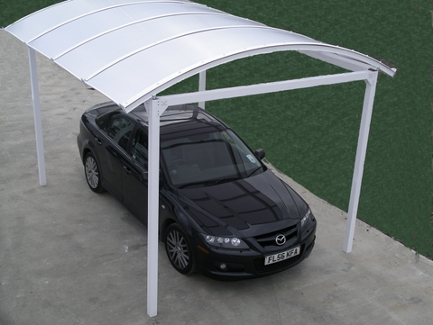 Covered car canopy