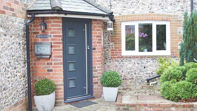 Composite Front Door in grey & Xtreme Composite Door |Hampshire |Berkshire |Wiltshire |Dorset | KJM