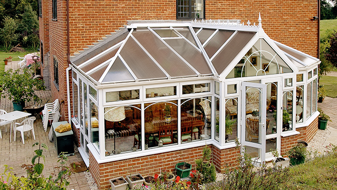 Fully bespoke conservatory in white uPVC