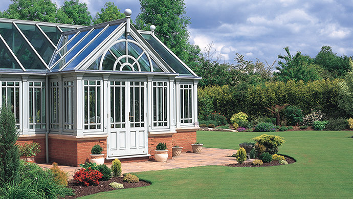 Hardwood conservatory external view