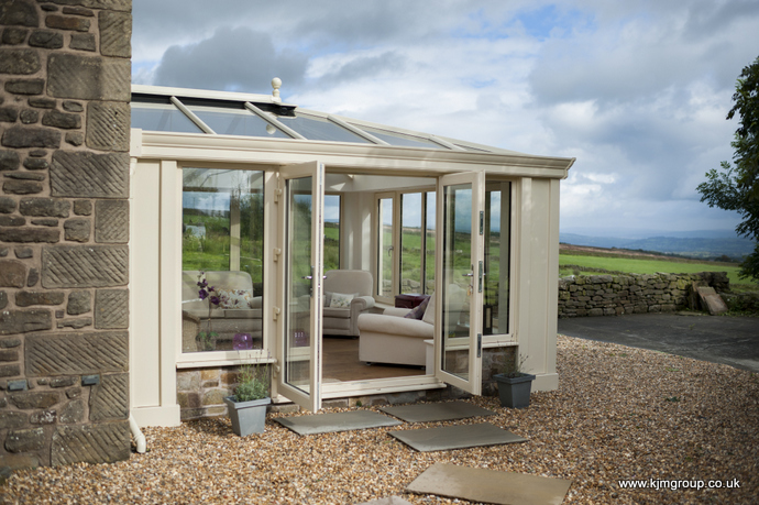 Farmhouse Loggia Conservatory Exterior in cream