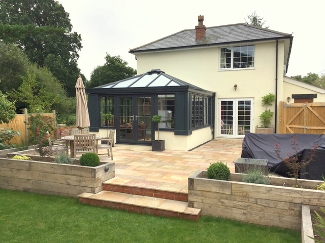 Grey Loggia Conservatory with Georgian Bars