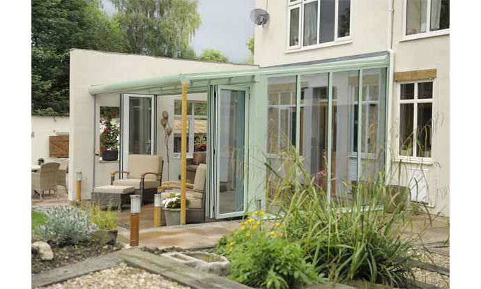 Ultraframe Veranda Conservatory in Green